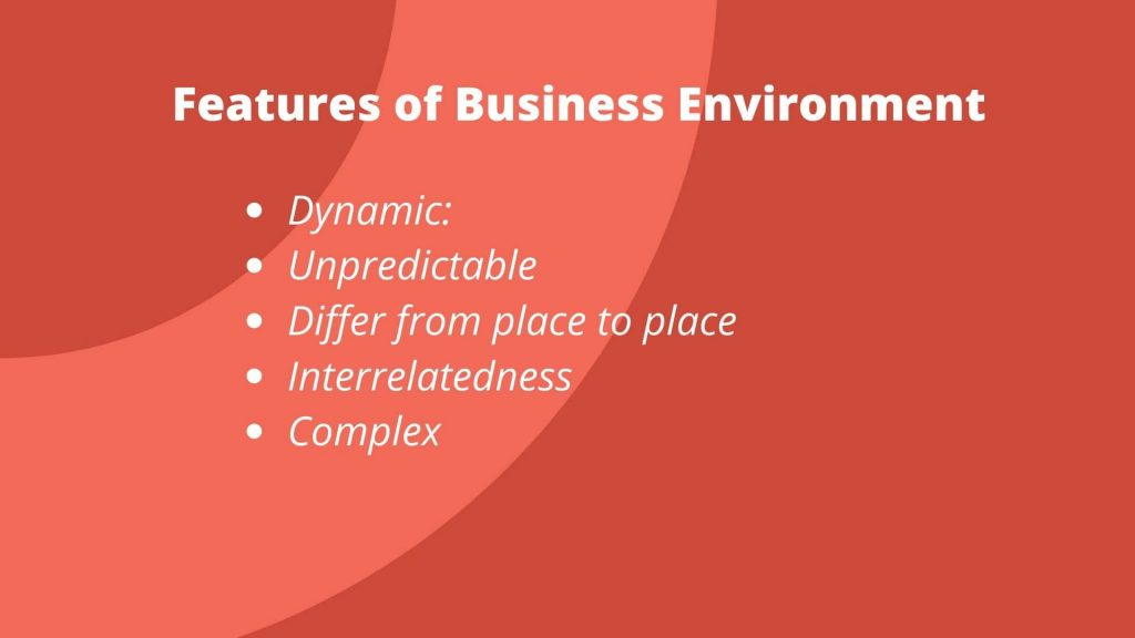 features of business environment