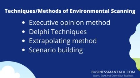 Method / Techniques of environment scanning
