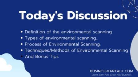 Environmental scanning checklist