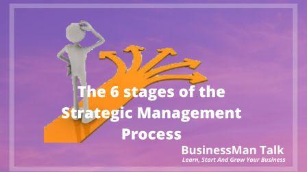 The 6 stages of the Strategic Management Process image